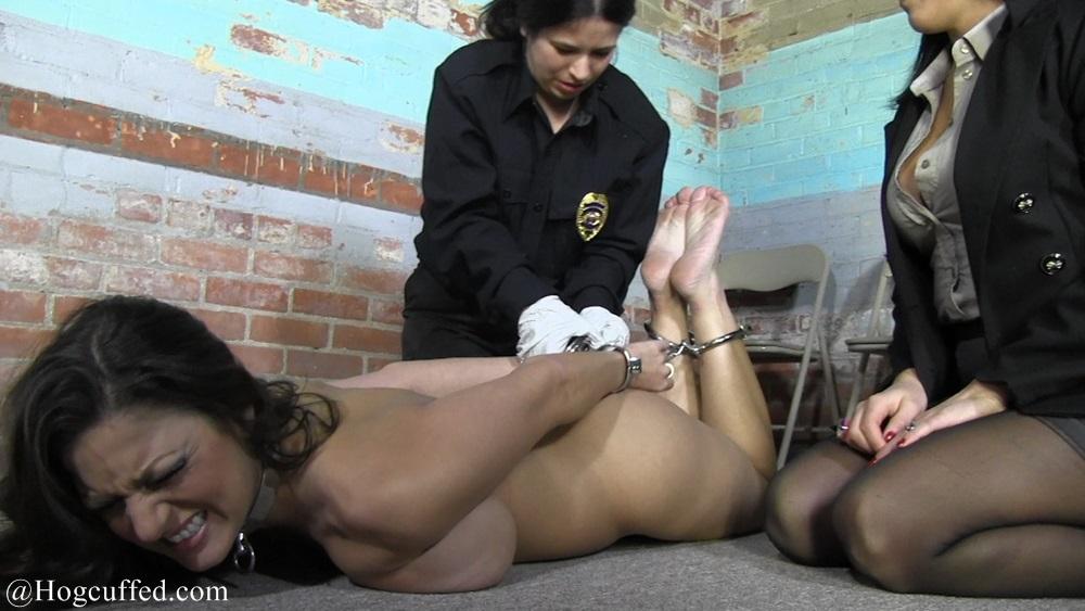 Naked Woman In Bondage